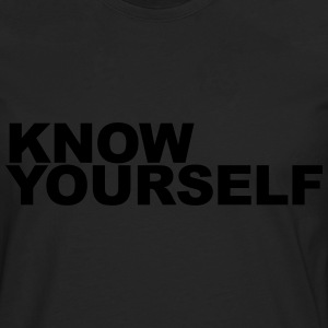Know yourself T-Shirts - Men's Premium Longsleeve Shirt