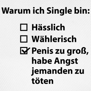 Warum ich Single bin T-Shirts - Baseballkappe