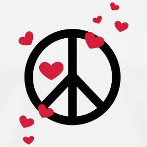 Peace Heart Love Freedom Symbol Summer Hippie Long Sleeve Shirts - Men's Premium T-Shirt
