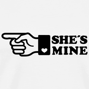 Finger She is mine! girlfriend like hands gift fun Camisetas de manga larga - Camiseta premium hombre