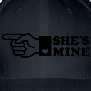 Finger She is mine! girlfriend like hands gift fun Sweatshirts - Flexfit baseballcap