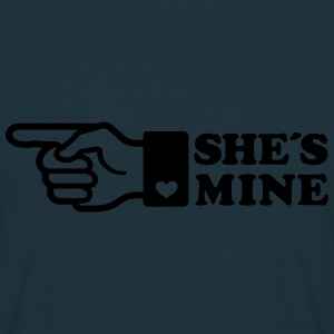 Finger She is mine! girlfriend like hands gift fun Sweatshirts - Herre-T-shirt