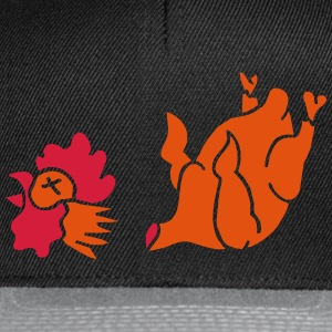 Hahn Cock Hähnchen Chicken Wings Broiler Cockfight T-skjorter - Snapback-caps