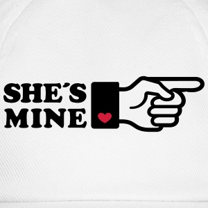 Girlifriends love gift Finger She is mine heart Pu - Baseballkappe