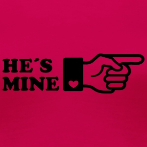 Finger He is mine! boyriend like hands gift heart  - Frauen Premium T-Shirt