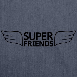 super friends super vrienden T-shirts - Schoudertas van gerecycled materiaal