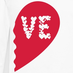 Valentine Heart Love Wedding Marriage half boy Camisetas - Camiseta de manga larga premium hombre