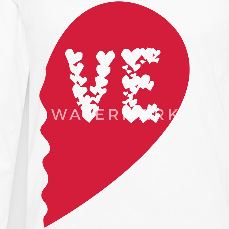 Valentine Heart Love Wedding Marriage half boy Camisetas de manga larga - Camiseta de manga larga premium hombre