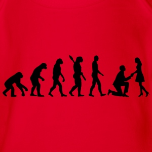 Evolution Heiratsantrag T-Shirts - Baby Bio-Kurzarm-Body