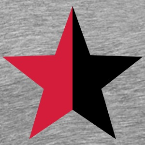 Anarchy Star Rebel Revolution Fight Left Red Black Long sleeve shirts - Men's Premium T-Shirt