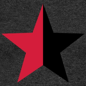 Anarchy Star Rebel Revolution Fight Left Red Black T-Shirts - Women's Boat Neck Long Sleeve Top