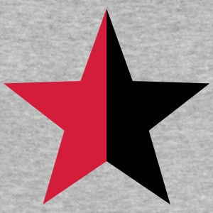 Anarchy Star Rebel Revolution Fight Left Red Black Sweaters - slim fit T-shirt