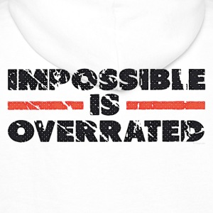 Impossible Is Overrated - Retro Jacks & vesten - Mannen Premium hoodie