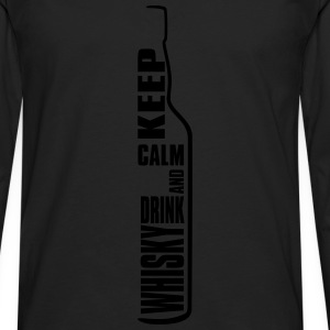 Keep Calm and Drink Whisky Single Malt Shirt Tee shirts - T-shirt manches longues Premium Homme