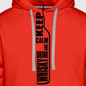 Keep Calm and Drink Whisky Single Malt Shirt Tee shirts - Sweat-shirt à capuche Premium pour hommes