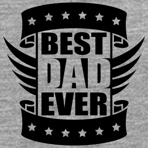 Best Dad Ever Wings Logo-Design T-shirts - Mannen Premium shirt met lange mouwen