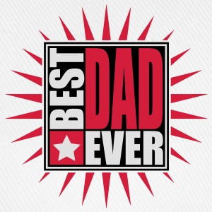 Best Dad Ever Star Logo Design T-shirts - Basebollkeps