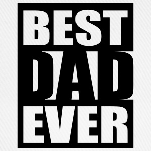 Best Dad Ever Logo-Design T-skjorter - Baseballcap