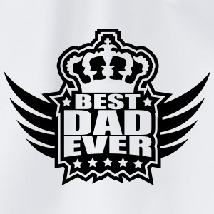 Best Dad Ever King Wings Logo Magliette - Sacca sportiva