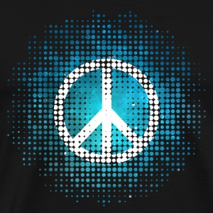 Peace Symbol Love Harmony Freedom Dots Summer Long sleeve shirts - Men's Premium T-Shirt