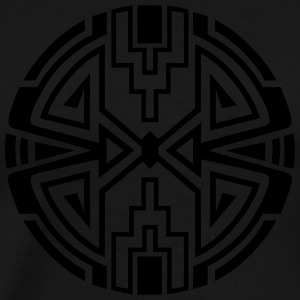 Native circle symbol, arrows & diamond - Intention Shirts med lange ærmer - Herre premium T-shirt