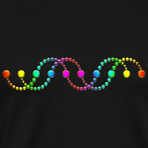 DNA helix crop circle serpent rainbow frequency Pullover & Hoodies - Männer Premium T-Shirt