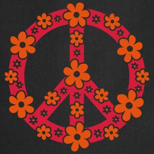 Peace Symbol Love Freedom Love Flower Hippie Tee shirts - Tablier de cuisine