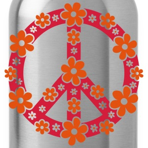 Peace Symbol Love Freedom Love Flower Hippie Camisetas de manga larga - Cantimplora