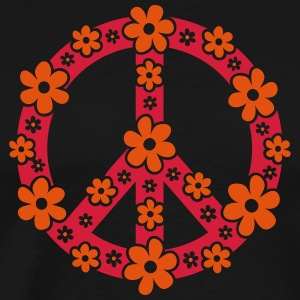 Peace Symbol Love Freedom Love Flower Hippie Tee shirts manches longues - T-shirt Premium Homme