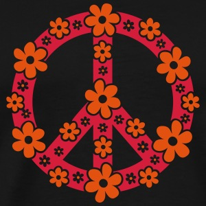 Peace Symbol Love Freedom Love Flower Hippie Sweat-shirts - T-shirt Premium Homme