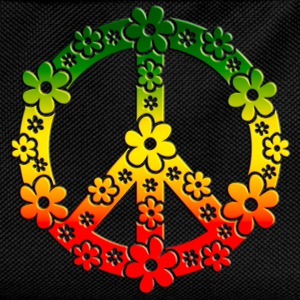Reggae Peace Symbol Love Freedom Flower Summer Long sleeve shirts - Kids' Backpack