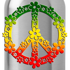 Reggae Peace Symbol Love Freedom Flower Summer Long sleeve shirts - Water Bottle
