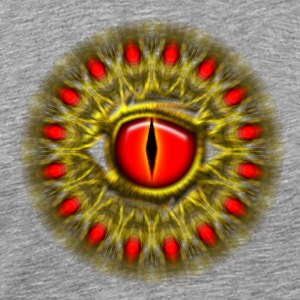 Dragon eye fantasy, symbol magical balance & power Shirts met lange mouwen - Mannen Premium T-shirt