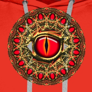 Dragon eye dragoneye fantasy Tee shirts - Sweat-shirt à capuche Premium pour hommes