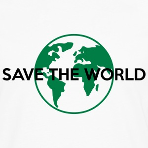 Save the world T-Shirts - Männer Premium Langarmshirt