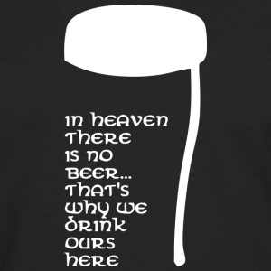 In Heaven there is no beer T-shirts - Långärmad premium-T-shirt herr