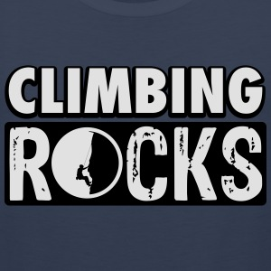 Climbing rocks T-Shirts - Men's Premium Tank Top