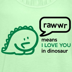Rawr means I LOVE YOU in dinosaur T-shirts - Tanktopp dam från Bella