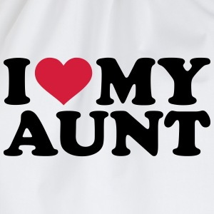 I love my Aunt T-Shirts - Turnbeutel