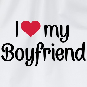 I love my boyfriend T-Shirts - Turnbeutel
