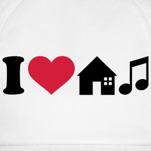 I love House Music T-Shirts - Baseballkappe