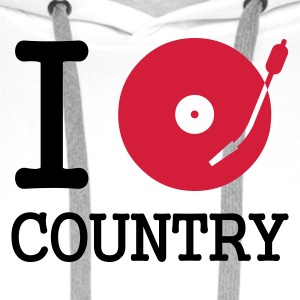 I dj / play / listen to country - Premium hettegenser for menn