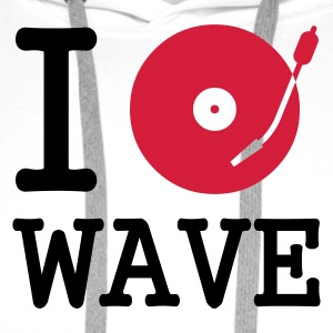 I dj / play / listen to wave - Premium hettegenser for menn