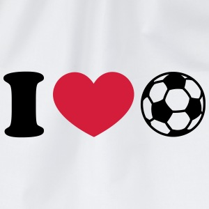 Soccer Football Heart I like love world champion  Sudaderas - Mochila saco