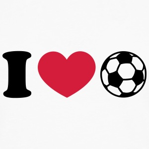 Soccer Football Heart I like love world champion  T-skjorter - Premium langermet T-skjorte for menn