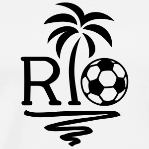 RIO Brazil Palm Champion Star Football World Cup  Long Sleeve Shirts - Men's Premium T-Shirt