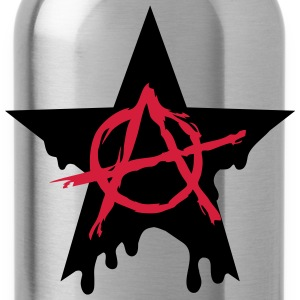 Anarchy star chaos symbol rebel revolution punk Shirts met lange mouwen - Drinkfles