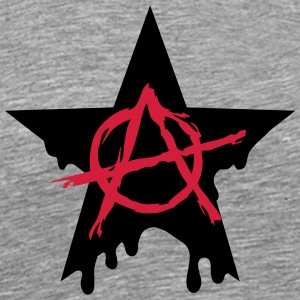 Anarchy star chaos symbol rebel revolution punk Tee shirts manches longues - T-shirt Premium Homme