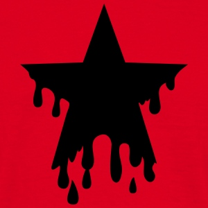 Star punk blood anarchy symbol revolution against Gensere - T-skjorte for menn