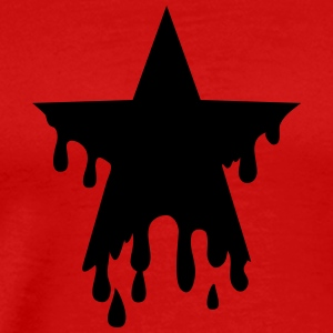 Star punk blood anarchy symbol revolution against Tee shirts manches longues - T-shirt Premium Homme